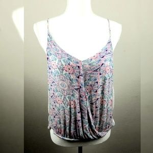 Free People Miles Away Faux Wrap Tank Top Small